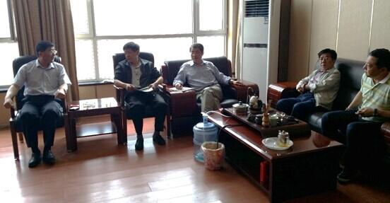 我院领导与山阴县领导讨论园区发展的有关问题