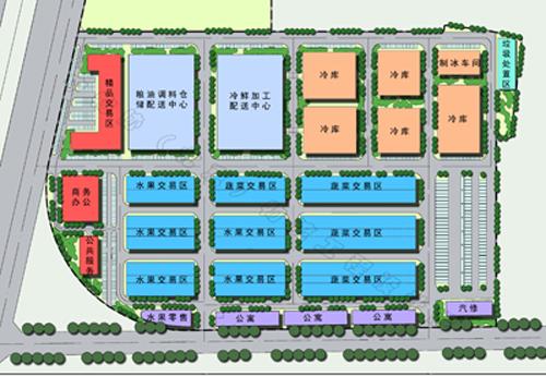 京南大菜场物流园区总平图